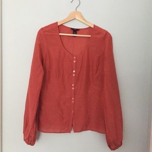 H&M silk blend blouse
